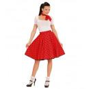 hurtownia Zabawki:  Czerwone 50s  kropki spódnica & Neck Scarf  -