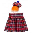 Scotsman  (kilt, kapelusz z włosami) - dla mężczy