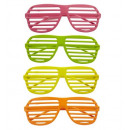 wholesale Drugstore & Beauty:  neon shutter  glasses  4 colors assorted -  for ad
