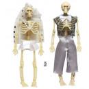 grossiste Jouets: couple de squelette habillé 15 cm