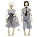 wholesale Costumes: dressed skeleton couple 15 cm, Hat size: 0