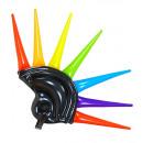 Großhandel Geschenkartikel & Papeterie:  Aufblasbare  Mehrfarben Spikes Helm  - für Erwachs