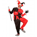 Schwarz-rot böse Narr (Mantel, Hose, Gürtel, Hut