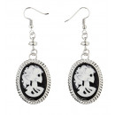 wholesale Toys: pair of  skull  cameo earrings  - for women