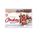 cowboy makeup set (4 makeup sticks, skin & brown