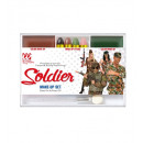 soldier makeup set (4 makeup sticks, brown & gre