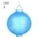 grossiste Articles de fête:  Lampion light-up  d'azur avec 2 blanc led  3