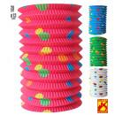 dotted paper lantern ø 13 cm - h 28 cm- 4 colors