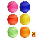 unicolor papier bal  ø 25 cm - 6 kleuren assortim