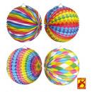 bedrukt papier ball  ø 25 cm - 4 stijlen assortim