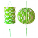 groothandel Windlichten & lantaarns:  Set van groene  papier bal ø 25 cm & lantaarn