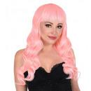 groothandel Woondecoratie: roze bella pruik in doos - voor dames