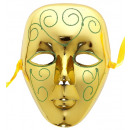 wholesale Toys: gold mask with glitter , Hat size: 0 - for adult