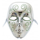 wholesale Toys: silver mask with glitter , Hat size: 0 - for adu