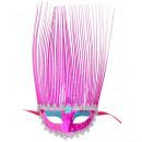 Maschera rosa con stemma olografico - per le don