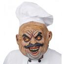 böse Koch Vollkopfmaske mit Hut , Hutgröße: 0 -