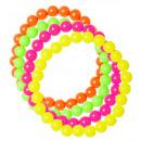 wholesale Toys: set of 4 neon beaded bracelets , Hat size: 0 - f