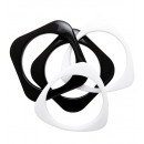 grossiste Bracelets:  Set de 4  bracelets disco  noir et blanc  - ...