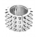 grossiste Bijoux & Montres:  Silver spiked  ring  - pour les adultes / Unisexe