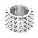 groothandel Accessoires & Onderdelen:  Silver spiked  ring  - voor volwassenen / unisex