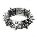 ingrosso Gioielli & Orologi:  Nero e argento  tempestato  braccialetto  - ...