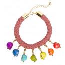 grossiste Jouets: bracelet cordon avec 7 couleurs Skulls - pour le