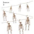 Großhandel Geschenkartikel & Papeterie: Skelettgirlande 11 m (8 Skelette à 15 cm), H