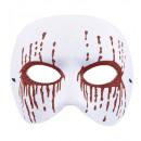 Maschera psico bianca unisex con sanguinamento re