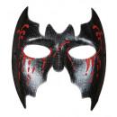 Maschera bat unisex con glitter rosso sanguinamen