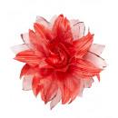 grossiste Jouets: Clip rouge de cheveux de fleur avec des paillette