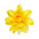 grossiste Jouets: Pince jaune cheveux de fleur avec des paillettes