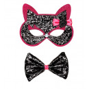 wholesale Toys:  black-pink  glitter cat  eyemask & bow tie  ...