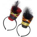 grossiste Cadeaux et papeterie:  Glitter majorette  mini-chapeau avec perle et plum