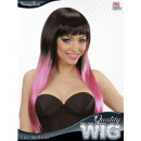 wholesale Garden & DIY store:  black-pink fade  in color wig  in box -  for women