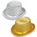 Großhandel Spielwaren: Lurex Top Hut gold & silber sortiert - für a