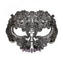 ingrosso Giocattoli: Nero maschera di pizzo teschio decorata con stras