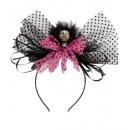 groothandel Woondecoratie: Skull & roze boog hoofdtooi - voor vrouwen