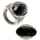 ingrosso Accessori e ricambi:  gemma nera Gothic  Ring  - per gli adulti / unisex