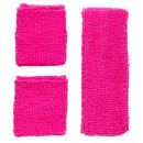 wholesale Drugstore & Beauty:  neon pink  sweatband set   (headband, 2 ...