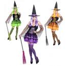 Witch  (jurk, armbanden met sluiers, hoed) - 3 co