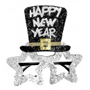wholesale Toys:  silver happy new  year glasses  - for adults / un