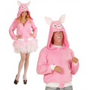 wholesale Toys: pig (hooded fleece jacket), Size: (S/M), Hat siz