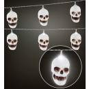 wholesale Light Garlands: skulls light chain 2,5 m - 10 lights - 2 light m