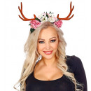 wholesale Toys: antlers with flowers , Hat size: 0 - for women