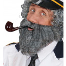 character beard with moustache grey, Hat size: 0