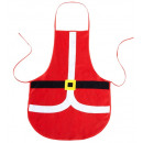 Weihnachtsmann  Schürze  75x54 cm - für Erwachsene