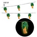 wholesale Light Garlands: palm trees light chain 2,5 m - 10 lights - batte