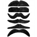 black moustache adhesive - 6 styles assorted, Ha