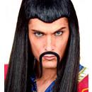 chinese  moustache   adhesive - black ...