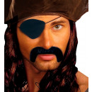 pirate moustache  & eye-patches  adhesive - black